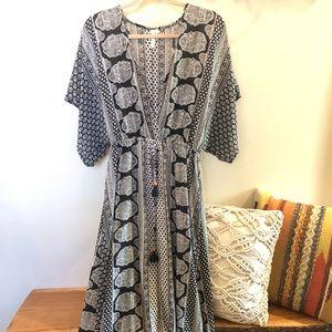 Elan black boho dress